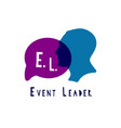 event manager logo vector image