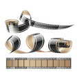film tape twisted reels vector image