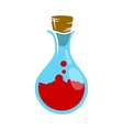 Potions in a glass flask vector image