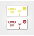Summer Sale collection Summer price tags vector image