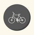 two-wheeled bicycle round icon with the vector image
