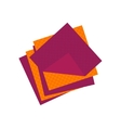 Flat cellulose sponges icon logo cleaning rag vector image