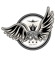 Stamp with wings vector image vector image