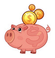 piggy bank icon flat style vector image