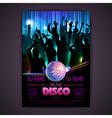Disco background Disco poster vector image