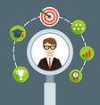Selection of business personnel vector image vector image