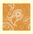 floral seamless paisley ham pattern vector image