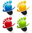 Swoosh Foot Logo Icons vector image vector image