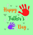 happy father day cartoon cute style vector image