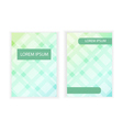 template banner size A4 with polygonal element vector image