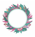 tropical floral frame vector image