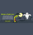 welcome to zombie party banner horizontal concept vector image