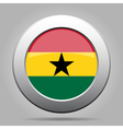 metal button with flag of Ghana vector image