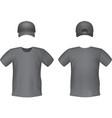 Black t-shirts and baseball cap template vector image