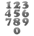 Finger print numbers vector image