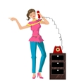 girl on the phone vector image vector image