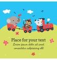 Cartoon train with animals vector image