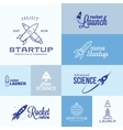Rocket Logo Set vector image