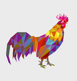 Rooster low polygon vector image vector image