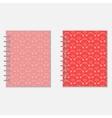 Love diary design vector image