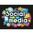 Kawaii gadgets social media items Doodles with vector image vector image