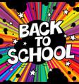 back to school poster comic retro alphabet vector image