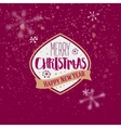 Merry Christmas golden typography greeting vector image