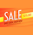orange voucher for sale and business promotion vector image