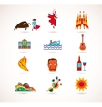 Spain Love - set of icons vector image vector image