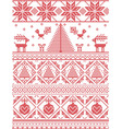 Scandinavian Printed Textile style pattern vector image