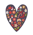 Christmas Heart vector image vector image