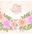 Sakura holiday invitation card vector image