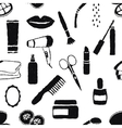 seamless doodle cosmetics pattern vector image