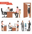 Flat design of business people and office workers vector image vector image