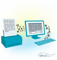 pc computer monitor keyboard printed text blank vector image