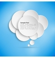 Abstract background of paper speech bubble vector image