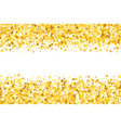 border with shimmer stars gold sparkle golden vector image