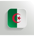 Button - Algeria Flag Icon vector image