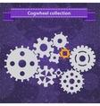 Cogwheel gear mechanism settings icon set vector image