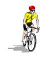 color line sketch cyclist vector image