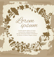 floral and herbal wreath silhouette on vintage vector image