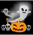 flying ghost happy halloween vector image