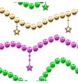 Mardi gras seamless pattern vector image