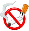 no smoking cartoon vector image