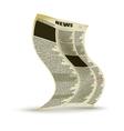 Old newspaper vector image