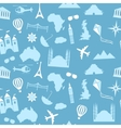 Seamless pattern background travel vector image