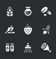 set of gmo icons vector image