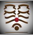 vintage brown ribbons vector image