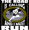 The road is calling I must go vector image