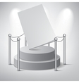 White podium on grey background vector image